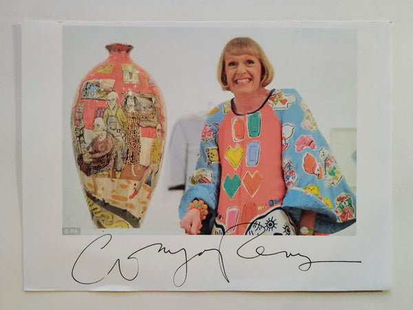 SIGNED PHOTOGRAPH OF GRAYSON PERRY