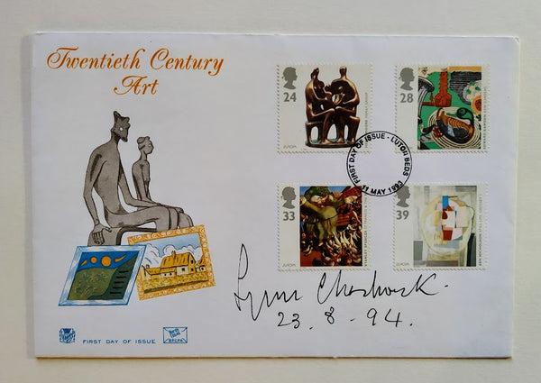 TWENTIETH CENTURY ART FIRST DAY COVER SIGNED BY LYNN CHADWICK