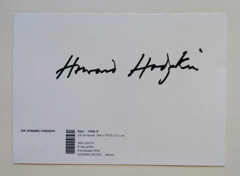 Howard Hodgkin - Postcard Signed By Howard Hodgkin