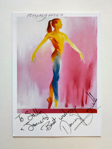 Allen Jones - POSTCARD OF DARCEY BUSSELL SIGNED BY ALLEN JONES AND DARCEY BUSSELL