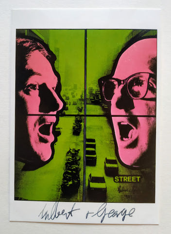 Gilbert And George - Postcard of 'Street' Signed by Gilbert And George.