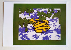 Patrick Caulfield - POSTCARD OF 'BANANAS AND LEAVES' SIGNED BY PATRICK CAULFIELD