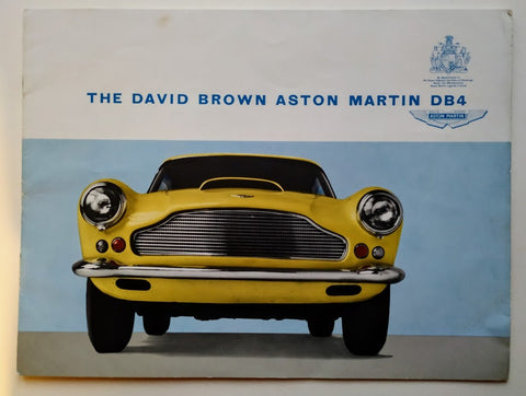 Aston Martin Lagonda Ltd - The David Brown Aston Martin DB4 Sales Brochure