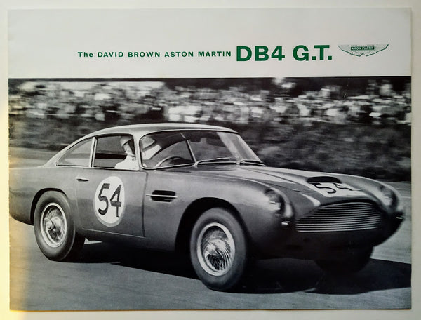 The David Brown Aston Martin DB4 G.T. Sales Brochure, 1959.