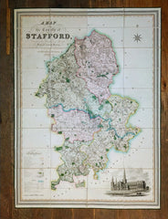 Phillips, J & Hutchings, W.F - A Map of the County of Stafford Divided into Hundreds & Parishes, From an Accurate Survey, Made in the Years 1831 & 1832 and published by Henry Teesdale, 1832.