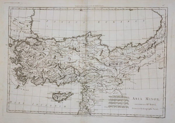 Asia Minor Descripta a Rigobert Bonne, 1787.