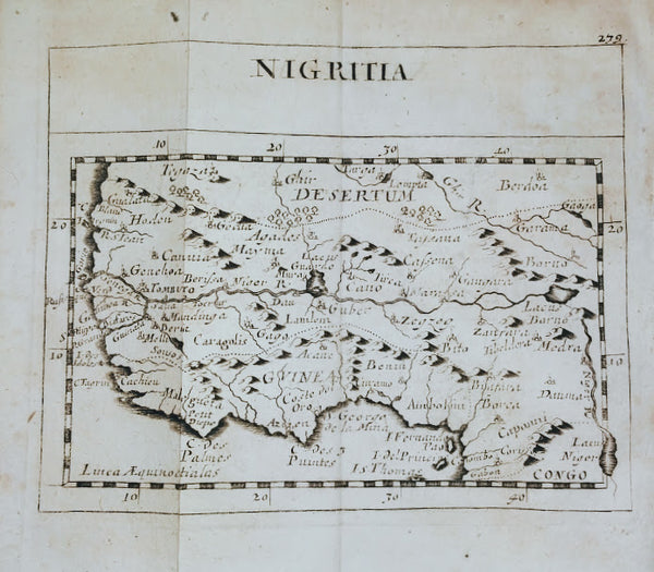 West Africa, Guinea & the Sahara Desert: Nigritia by Pierre Duval, 1694