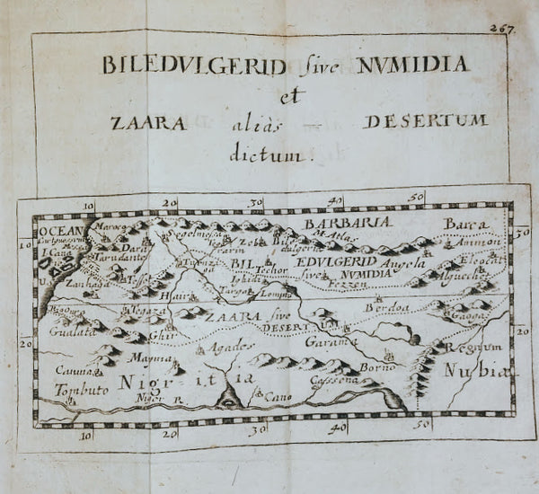 North Africa, Barbary Coast & the Sahara Desert: Biledulgerid sive Numidia et Zaara alias Desetum Dictum by Pierre Duval, 1694