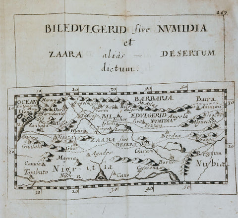 Pierre Duval - North Africa, Barbary Coast & the Sahara Desert: Biledulgerid sive Numidia et Zaara alias Desetum Dictum by Pierre Duval, 1694