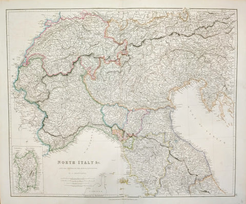 J Arrowsmith - North Italy and the passes of the Alps and Apennines by J Arrowsmith, 1838.