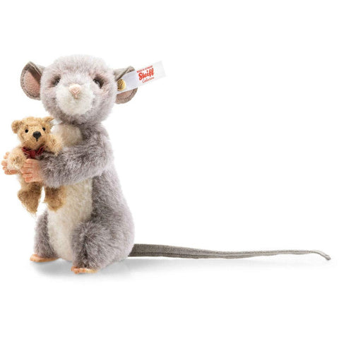 Margarete Steiff - Steiff Maggy Mouse Holding a Little Bear: 006395 Size 12cm Tall Limited Edition of 1000