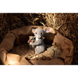 Steiff Maggy Mouse Holding a Little Bear: 006395 Size 12cm Tall Limited Edition of 1000