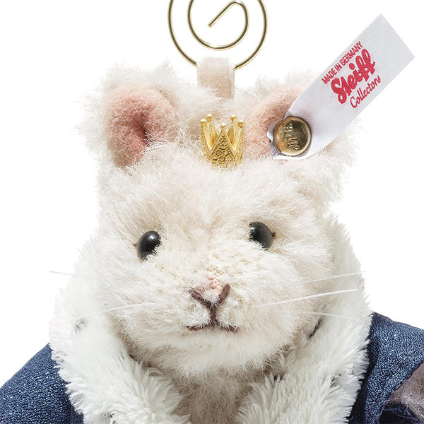 Steiff Alpaca Mouse King Ornament, Cream: 006883 Size 11cm Tall Limited Edition of 1225