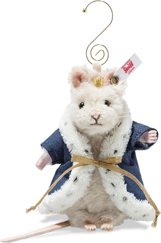 Margarete Steiff - Steiff Alpaca Mouse King Ornament, Cream: 006883 Size 11cm Tall Limited Edition of 1225