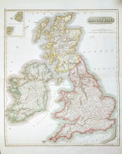 Map of Great Britain by John Thomson, 1814