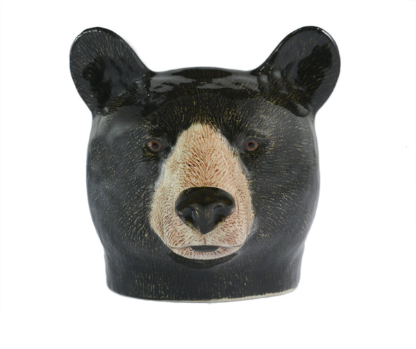 Black Bear Face Egg Cup