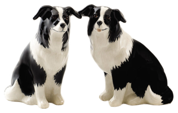Border Collie Salt And Pepper Pots