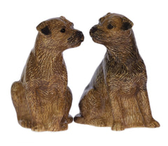 Quail - Border Terrier Salt And Pepper Pots