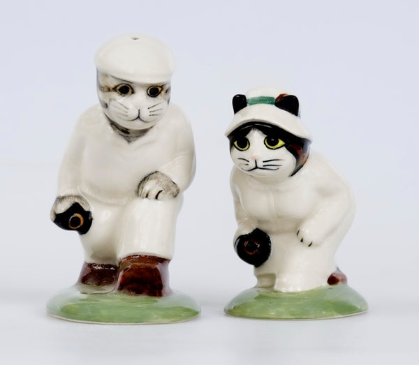 Quail Ceramics: Bowlers Salt And Pepper Pots