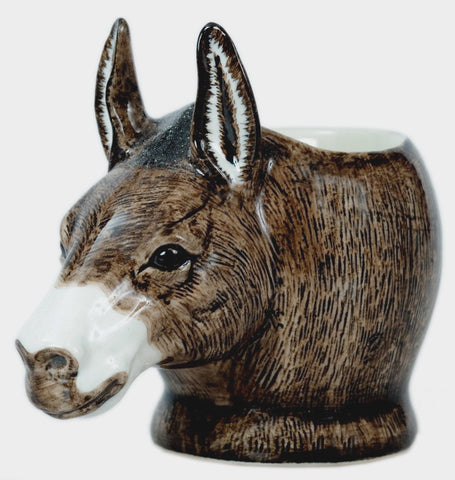 Quail - Brown Donkey Face Egg Cup