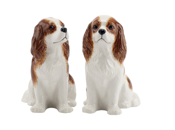 Cavalier King Charles Blenheim Salt And Pepper Pots