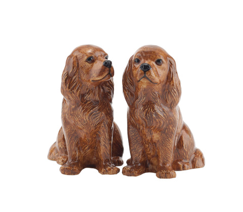 Quail - Cavalier King Charles Ruby Salt And Pepper Pots