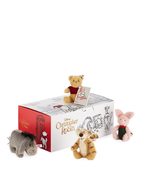 Steiff A A Milne: Christopher Robin Gift Set: 355417 Size 12cm Tall Limited Edition of 2000