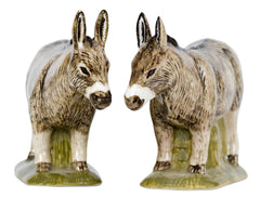 Quail - Brown Donkey Salt And Pepper Pots