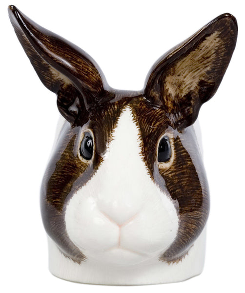 Dutch Rabbit Face Egg Cup: Brown & White