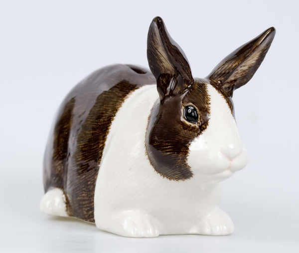 Dutch Rabbit Money Box: Brown & White