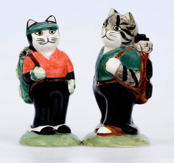 Quail Ceramics: Golfers Salt And Pepper Pots