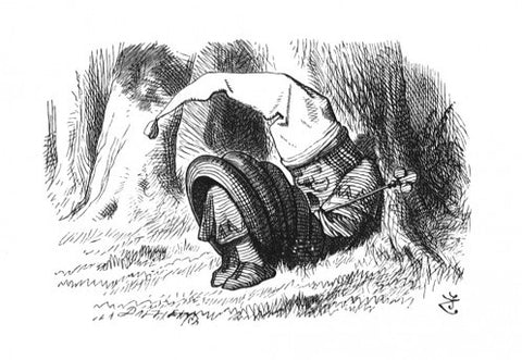 Sir John Tenniel for Lewis Carroll - 'He had a tall red night-cap on, with a tassel...'