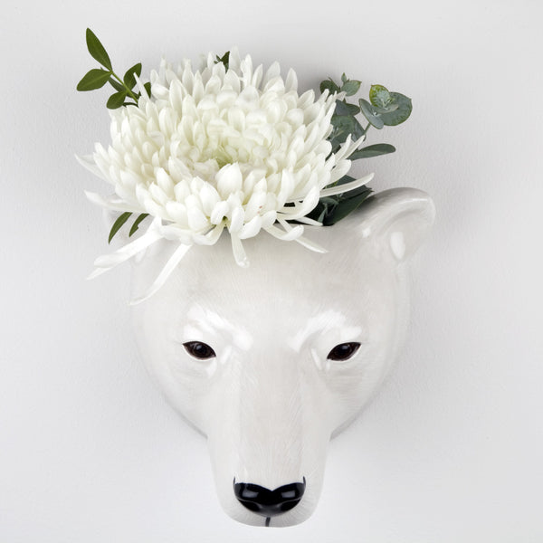 Polar Bear Wall Vase