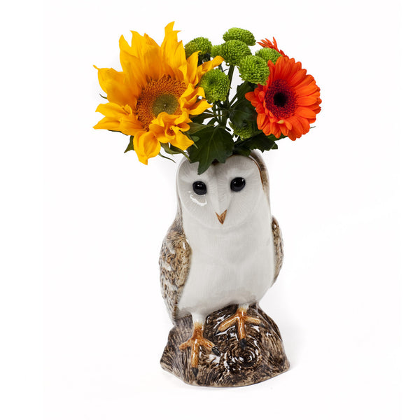 Barn Owl Table Flower Vase