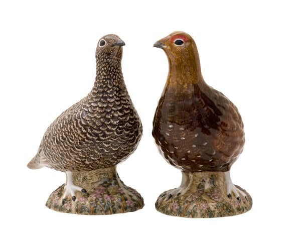 Red Grouse Salt And Pepper Pots
