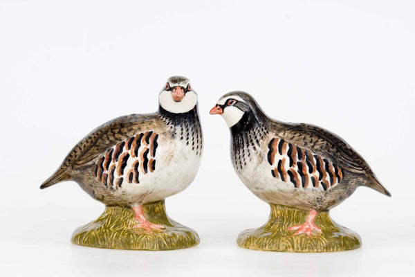 Red Legged Partridge Salt And Pepper Pots
