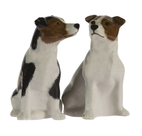 Jack Russell (Smooth) Salt And Pepper Pots