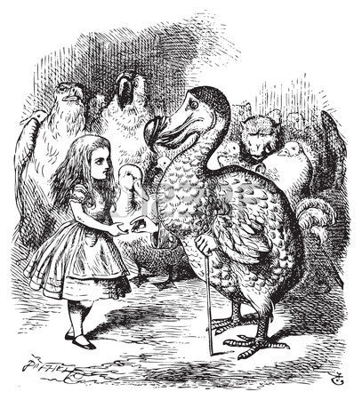 Sir John Tenniel for Lewis Carroll - 'Then they all crowded round her once more, while the Dodo...'