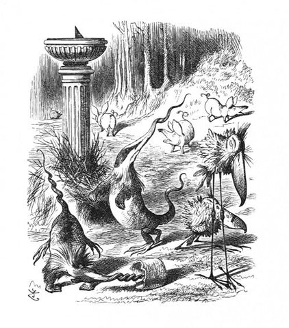 Sir John Tenniel for Lewis Carroll - 'Twas brillig, and the slithy toves Did gyre and gimble in the wabe...'