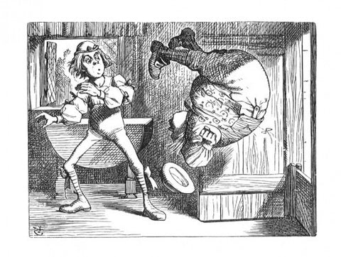 Sir John Tenniel for Lewis Carroll - 'Yet you turned a back-somersault in at the door -'