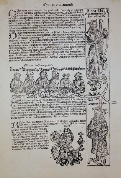 Anglie Provincia: An original woodcut from The Liber Chronicarum (Nuremberg Chronicle) by Martin Wohlgemut, 1493.