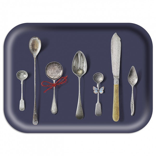 Slate Cutlery Tray: Medium