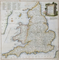 Not known - A New and Accurate Map of the Post Roads of England And Wales with the Distances By The Mile Stones c.1780