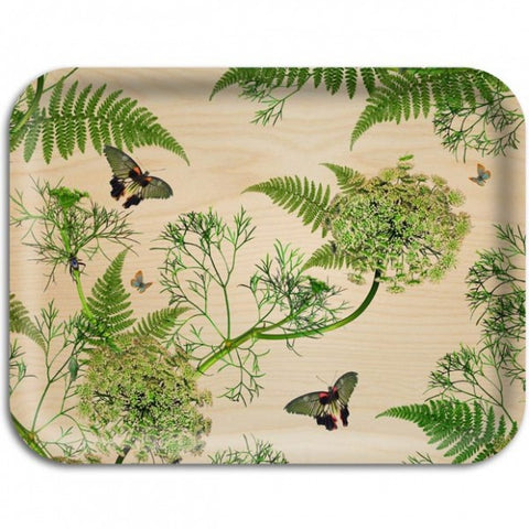 Michael Angove & Ary Trays - Dill Natural Chinoiserie Tray: Large