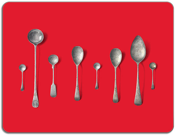 Spoons Placemat: Red