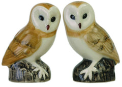 Quail - Barn Owl Salt And Pepper Pots