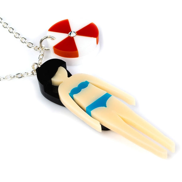 Beach Life Girl Necklace