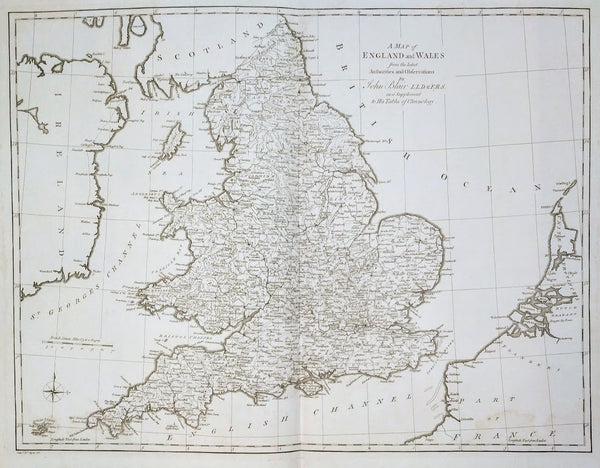 A Map of England and Wales by John Blair, 1768