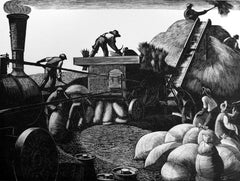 Clare Leighton - A Farmer's Year: March - Threshing
