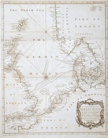 Paul de Rapin-Thoyras - A Correct Chart Of The German Ocean From The North Of Scotland... For Mr Tindal's Continuation of Mr Rapin's History